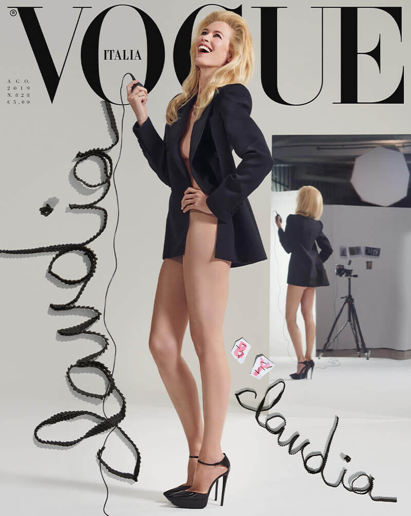 Claudia Schiffer Vogue Italia Cover