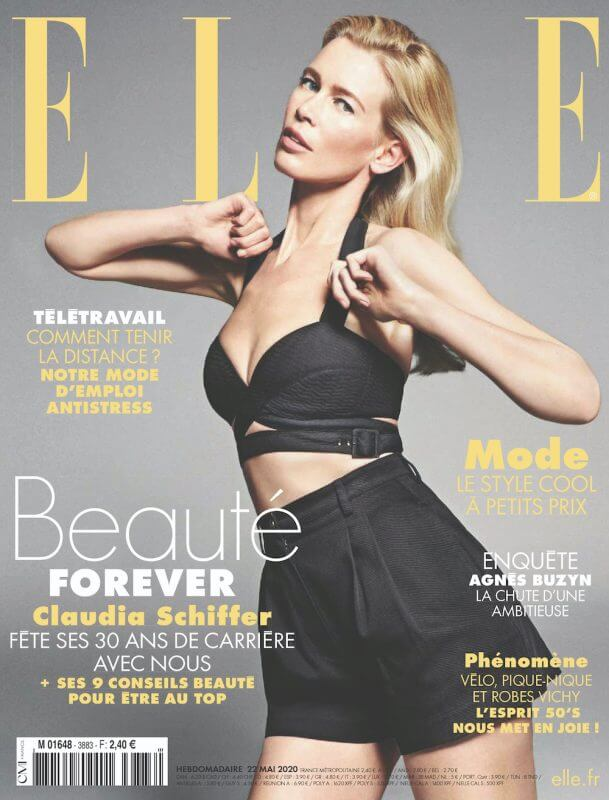 claudia schiffer elle france cover