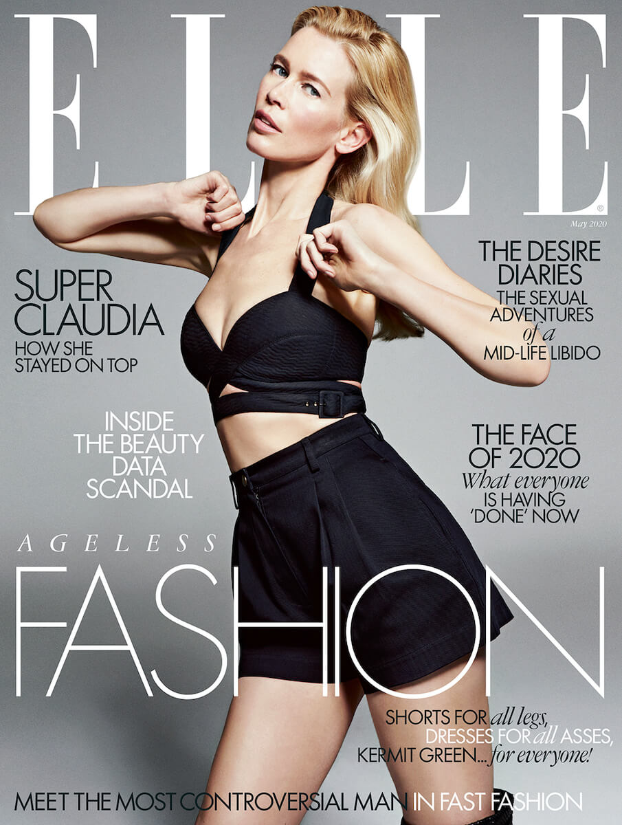 claudia schiffer elle uk 2020